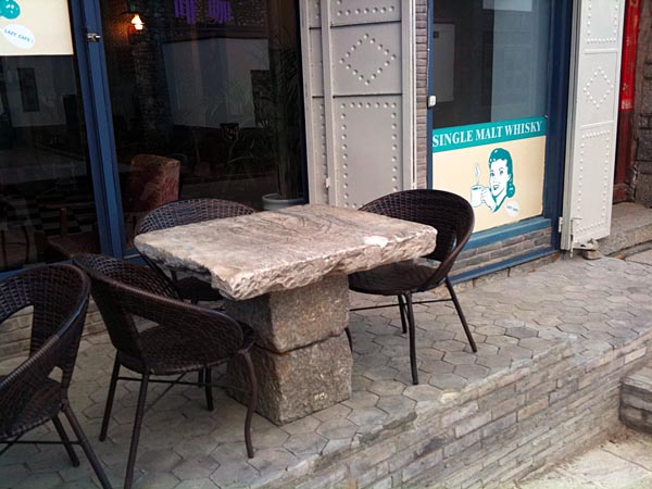 Stone Patio Table: If Image Does Not Load Automatically, Click Link Below.