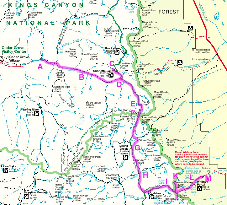 John Muir Trail  lurkertechcom